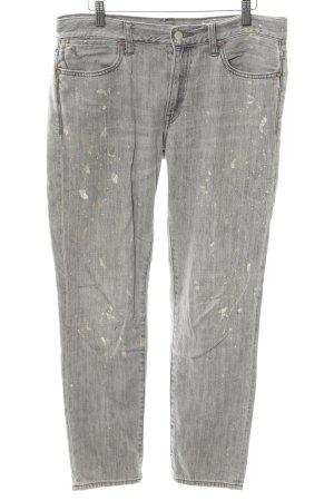 Polo Ralph Lauren Slim Jeans hellgrau Logo-Applikation aus Leder