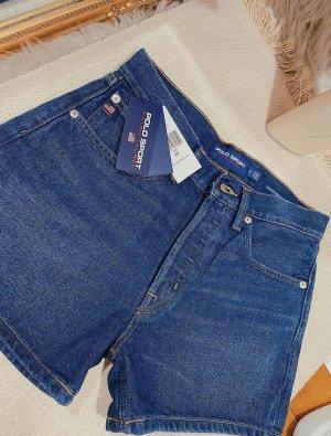 Polo Ralph Lauren Sport Shorts Jeansshorts Jeans blau retro