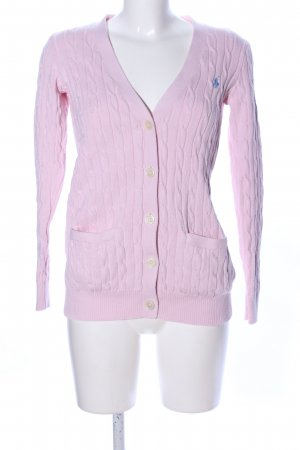 Polo Ralph Lauren Strick Cardigan pink Zopfmuster Casual-Look