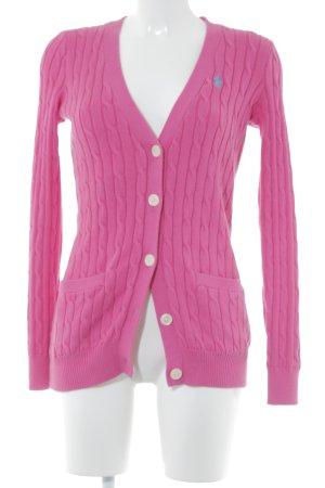 Polo Ralph Lauren Strick Cardigan magenta Casual-Look