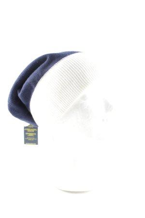 Polo Ralph Lauren Chapeau en tricot bleu-blanc lettrage imprimé