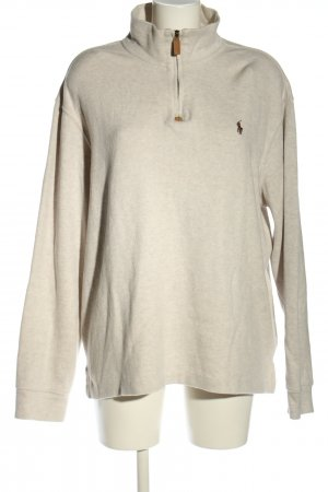 Polo Ralph Lauren Knitted Sweater light grey flecked casual look