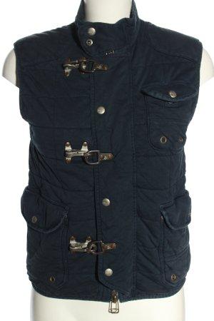 Polo Ralph Lauren Gebreid vest zwart quilten patroon casual uitstraling