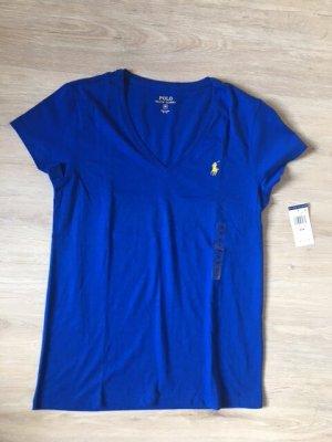 Polo Ralph Lauren Camisa con cuello V azul Algodón