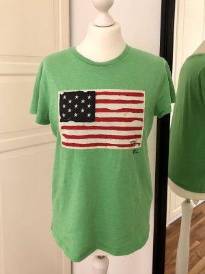 Polo Ralph Lauren Tshirt USA Flagge grün M