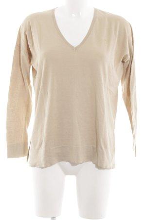 Polo Ralph Lauren V-Ausschnitt-Pullover creme Business-Look