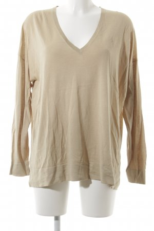 Polo Ralph Lauren V-Ausschnitt-Pullover sandbraun schlichter Stil