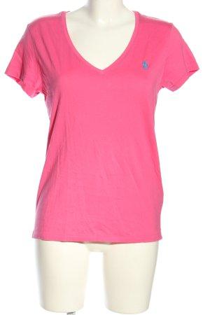 Polo Ralph Lauren Koszulka z dekoltem w kształcie litery V różowy