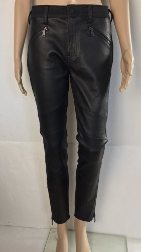 Polo Ralph Lauren, Varick Moto-Denim Pant, Schwarz, 38 (US 29), Leder/Cotton, neu, € 950,-