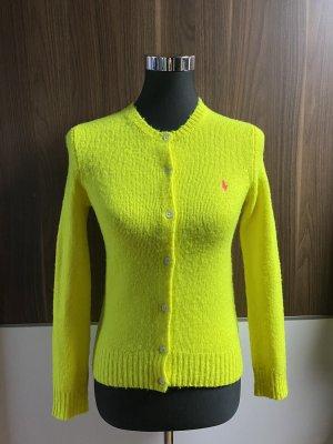 Polo Ralph Lauren Gilet tricoté jaune-jaune fluo
