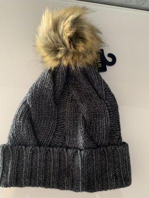 Polo Ralph Lauren wintermütze grau Strick Mütze Zopfmuster