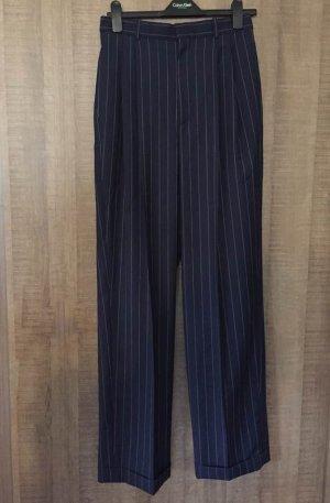 Ralph Lauren Pantalón de lana azul oscuro Lana