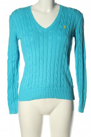 Polo Ralph Lauren Cable Sweater blue cable stitch casual look