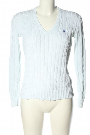 Polo Ralph Lauren Cable Sweater white cable stitch casual look