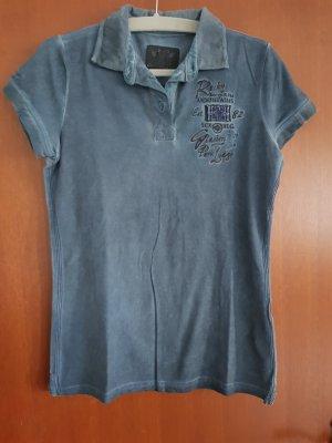 Soccx Camiseta tipo polo azul oscuro