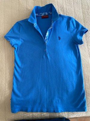U.s. polo assn. Koszulka polo chabrowy