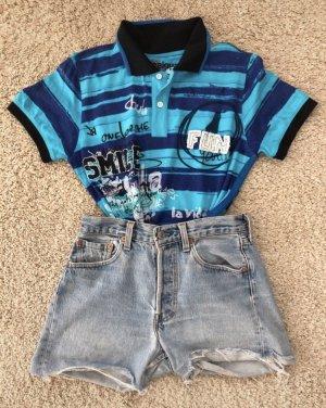 Polo shirt neon blauw-blauw