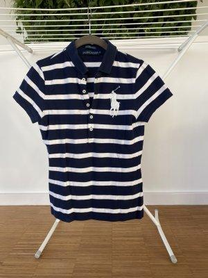 Polo Shirt blau weiß gestreift Ralph Lauren