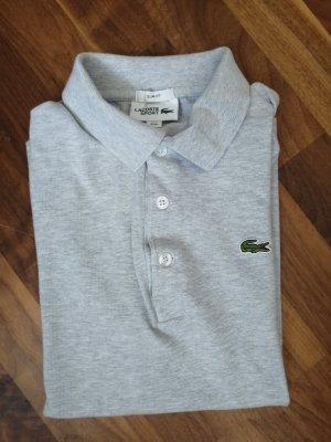 Lacoste Polo Shirt light grey cotton