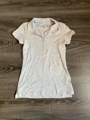 Polo Shirt hellgrau Basic neu
