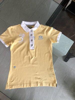 La Martina Camiseta tipo polo blanco-amarillo