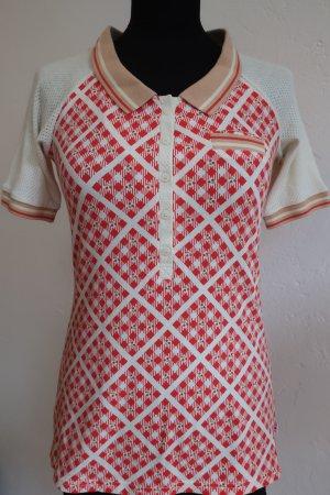 Polo Shirt Kirschen Blutsgeschwister Rot Weiß karo Retro 50ies