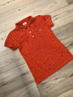 Lacoste Polo arancio neon Cotone