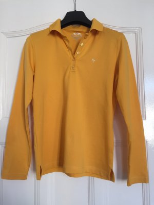 Adagio Polo Shirt dark yellow cotton