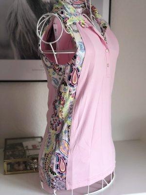 Golfino Polo shirt wit-lichtroze