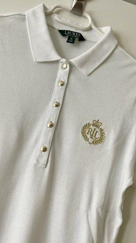 Polo Ralph Lauren Camiseta tipo polo blanco-color oro