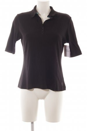 Polo-Shirt schwarz Casual-Look