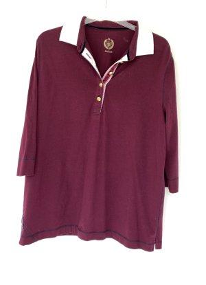 Polo-Shirt von Basler, 3/4 Arm, purpur-Farbe, Größe 48