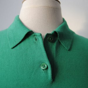 Ralph Lauren Top Polo verde Cotone
