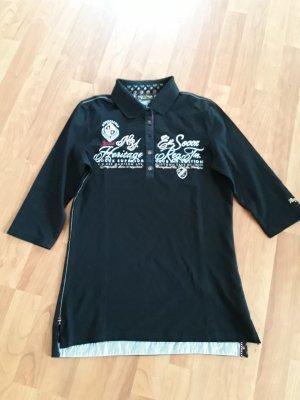 Polo Shirt von SOCCX mit 3/4 Arm, Gr. 36, schwarz