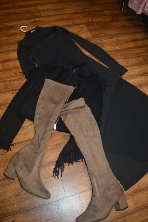 Nakd Robe mi-longue noir