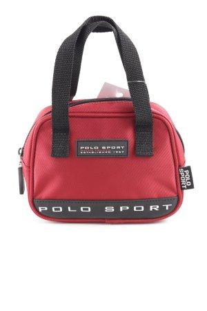 Polo Sport Minitasche rot-schwarz Schriftzug gedruckt Casual-Look