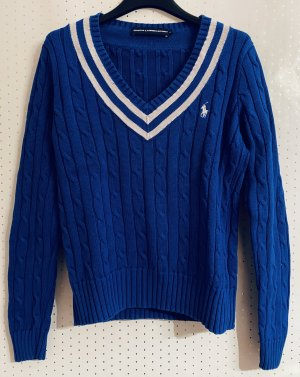 Ralph Lauren Pull tricoté bleu coton