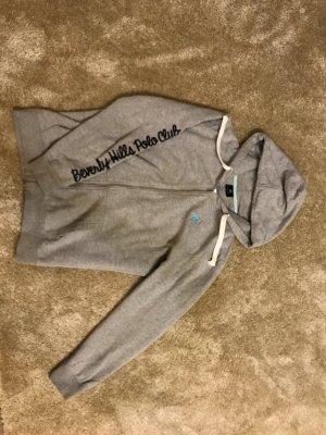 Beverly Hills Polo Club Chaqueta estilo camisa gris claro
