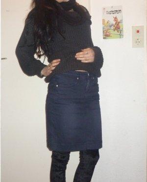 Polo sylt Denim Skirt dark blue cotton
