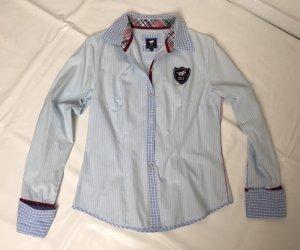 Polo sylt Blouse-chemisier blanc-bleu azur
