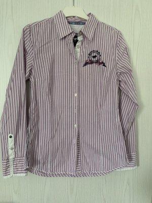Polo sylt Shirt Blouse white-dark violet