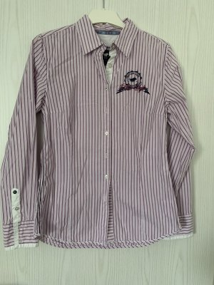Polo Sylt Bluse lila-weiß gestreift in Größe 8