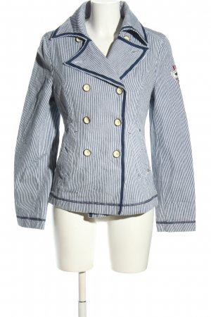 Polo sylt Pilotenjack blauw-wit gestreept patroon casual uitstraling