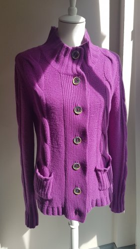 Polo sylt Knitted Cardigan lilac-lilac
