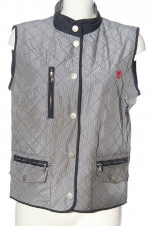 Polo sylt Down Vest light grey-blue striped pattern casual look