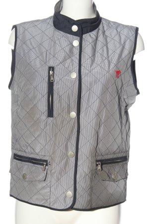 Polo sylt Puchowa kamizelka jasnoszary-niebieski Wzór w paski W stylu casual