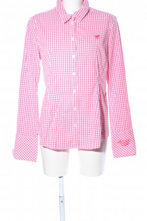 Polo sylt Hemd-Bluse weiß-pink Karomuster Business-Look