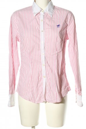 Polo sylt Langarm-Bluse pink Streifenmuster Business-Look