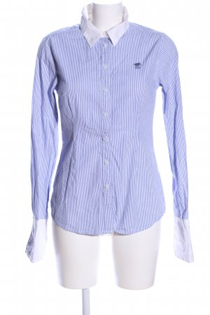 Polo sylt Long Sleeve Blouse white-blue striped pattern business style