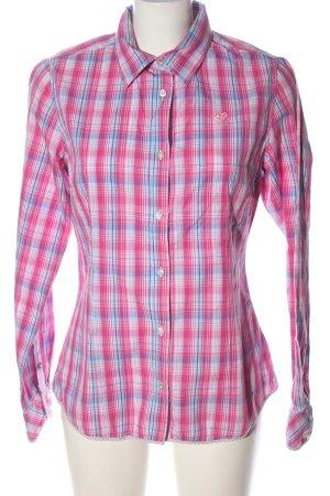 Polo sylt Long Sleeve Shirt pink-blue allover print casual look